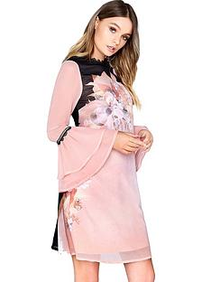 little-mistress-fluted-sleeve-shift-dress-pinknbsp