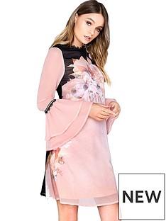 little-mistress-fluted-sleeve-shift-dress-pinknbsp