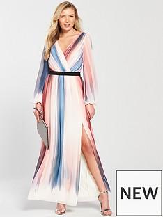 little-mistress-long-sleeve-stripe-print-maxi-dress