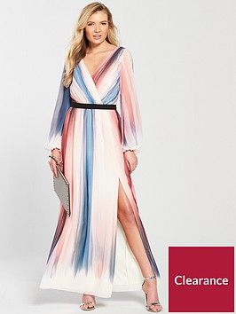 little-mistress-long-sleeve-stripe-print-maxi-dress