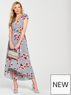 ax-paris-cap-sleeve-wrap-maxi-dress-grey