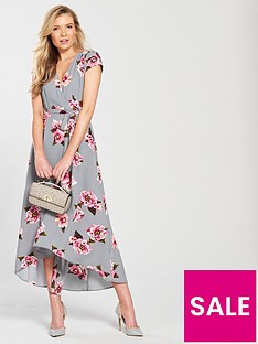 ax-paris-cap-sleeve-wrap-maxi-dress-grey