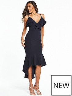 ax-paris-strappy-flute-hem-midi-dress-navy