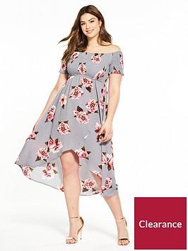 ax-paris-curve-bardot-printed-midi-dress