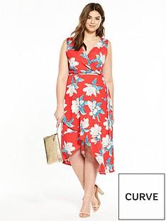 ax-paris-curve-frill-front-foral-maxi-dress