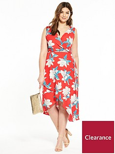 ax-paris-curve-frill-front-foral-maxi-dress