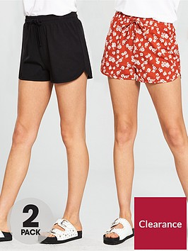 v-by-very-2-pack-shorts-blackprint