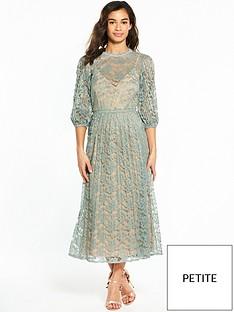 little-mistress-petitenbsplace-long-sleeve-midi-dress
