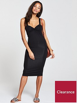 v-by-very-twist-front-jersey-dress-black