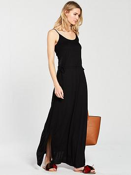 v-by-very-premium-holiday-maxi-jersey-dress-black
