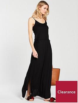 v-by-very-premium-holiday-maxi-jersey-dress-black