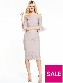 little-mistress-fluted-sleeve-lace-midi-dress