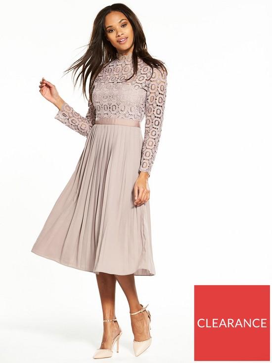 0812cb780 Little Mistress Crochet Top Midi Dress