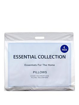 Essentials Collection Pack Of 4 Pillows