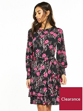 v-by-very-petite-ruffle-hem-jersey-tea-dress--nbspfloral-print