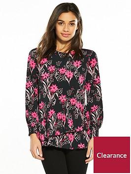 v-by-very-petite-ruffle-hem-jersey-top-floral-print