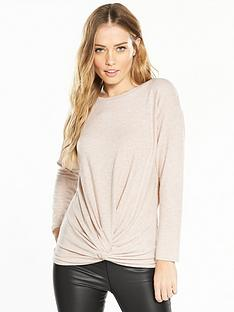 v-by-very-knot-front-snit-top-oatmeal