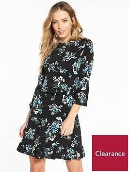 v-by-very-jersey-floral-print-frill-tunic-dress