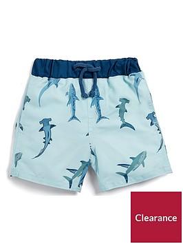 mamas-papas-boys-shark-print-short