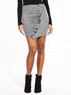 v-by-very-check-frill-mini-skirt
