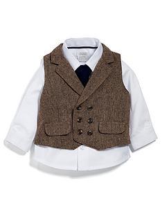 mamas-papas-baby-boys-tweed-waistcoat-shirt-amp-bow-tie-set
