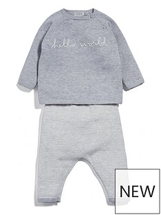 mamas-papas-baby-unisex-hello-world-outfit