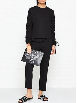kenzo-ruchednbspsleeve-woven-sweatshirt-black