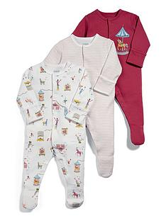 mamas-papas-baby-girls-3-pack-circus-sleepsuits