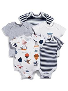 mamas-papas-baby-boys-5-pack-short-sleeve-bodysuits