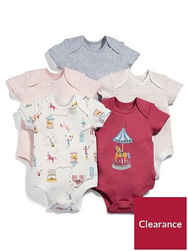 mamas-papas-baby-girls-5-pack-circus-short-sleeve-bodysuits