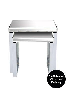 ideal-home-monzanbspmirror-and-chrome-nest-of-2-tables
