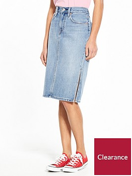 levis-side-split-midi-skirt-blue-waves