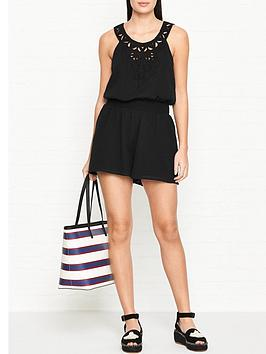 seafolly-geo-lace-playsuit-black