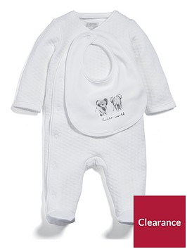 mamas-papas-baby-unisex-textured-all-in-one-with-bib