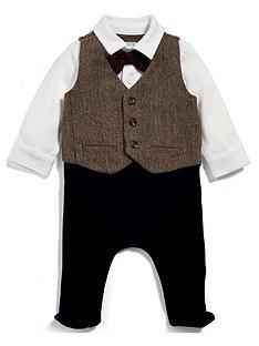 mamas-papas-baby-boys-tweed-mock-waistcoat-all-in-one