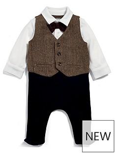 mamas-papas-baby-boys-tweed-mock-waistcoat-all-in-one