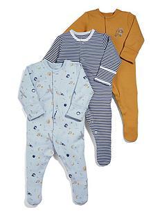 mamas-papas-baby-boys-3-pack-space-sleepsuits