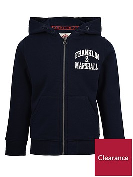 franklin-marshall-boys-badge-logo-zip-hoodie