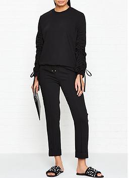 kenzo-crepe-tailored-trackpants-black