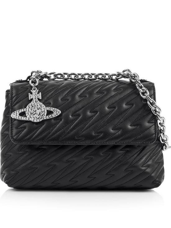 4c9285808e VIVIENNE WESTWOOD Coventry Medium Quilted Shoulder Bag - Black ...
