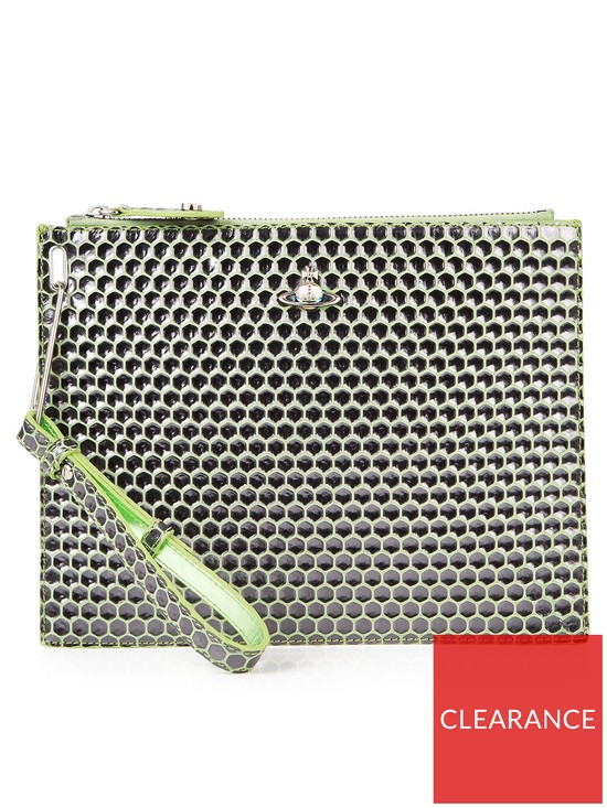 df8295587a VIVIENNE WESTWOOD Venice Honey Comb Pouch - Green | very.co.uk