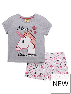 emoji-girls-unicorn-shorty-pyjamas
