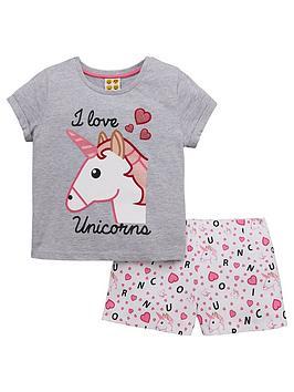 emoji-girls-unicorn-shorty-pyjamas