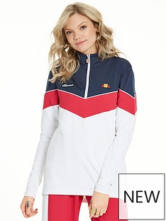 ellesse-heritage-martinazza-12-zip-top-whitenavynbspnbsp