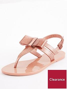 zaxy-zaxy-glaze-glitter-bow-flat-jelly-sandal