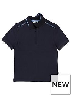 boss-boys-short-sleeve-tipped-collar-polo