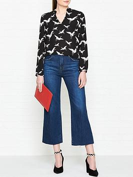 whistles-tia-crane-print-v-neck-blouse-blackwhite