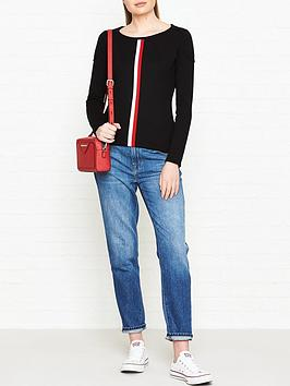 barbour-international-byway-round-neck-stripe-jumper-black