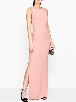 whistles-tie-back-maxi-dress-pink