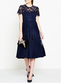 whistles-bianca-lace-pleated-dress-navy